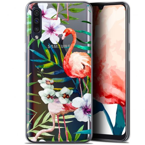 "Coque Gel Samsung Galaxy A50 (6.4"") Extra Fine Watercolor - Tropical Flamingo"
