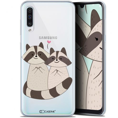 "Coque Gel Samsung Galaxy A50 (6.4"") Extra Fine Sweetie - Racoon Love"
