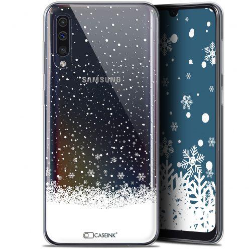 "Coque Gel Samsung Galaxy A50 (6.4"") Extra Fine Noël 2017 - Flocons de Neige"