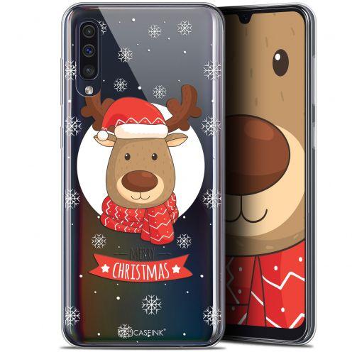 "Coque Gel Samsung Galaxy A50 (6.4"") Extra Fine Noël 2017 - Cerf à Echarpe"