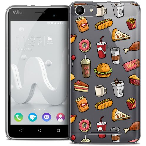 Coque Crystal Gel Wiko Jerry Extra Fine Foodie - Fast Food