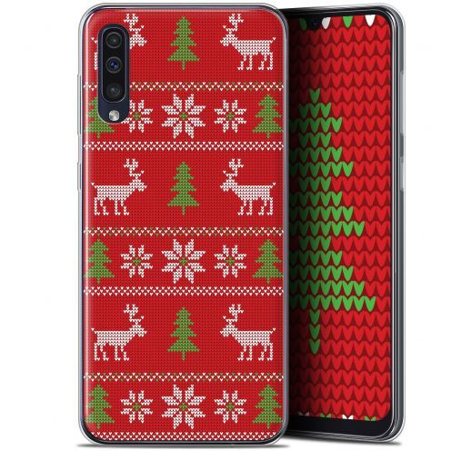 "Coque Gel Samsung Galaxy A50 (6.4"") Extra Fine Noël 2017 - Couture Rouge"