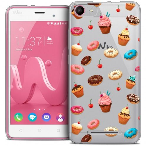 Coque Crystal Gel Wiko Jerry Extra Fine Foodie - Donuts