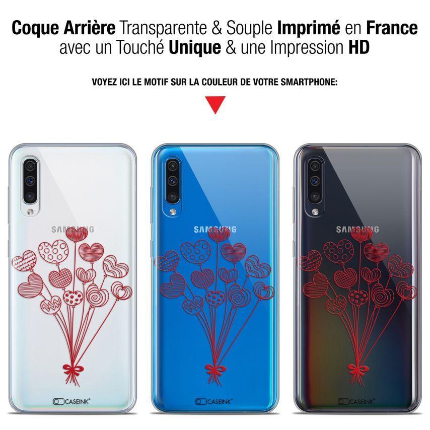 "Coque Gel Samsung Galaxy A50 (6.4"") Extra Fine Love - Ballons d'amour"