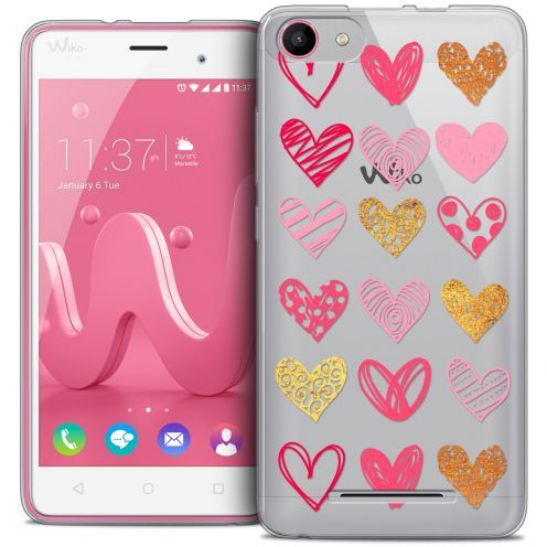 Coque Crystal Gel Wiko Jerry Extra Fine Sweetie - Doodling Hearts