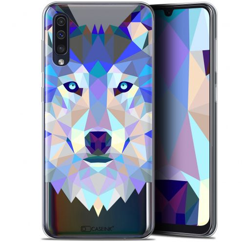 "Coque Gel Samsung Galaxy A50 (6.4"") Extra Fine Polygon Animals - Loup"