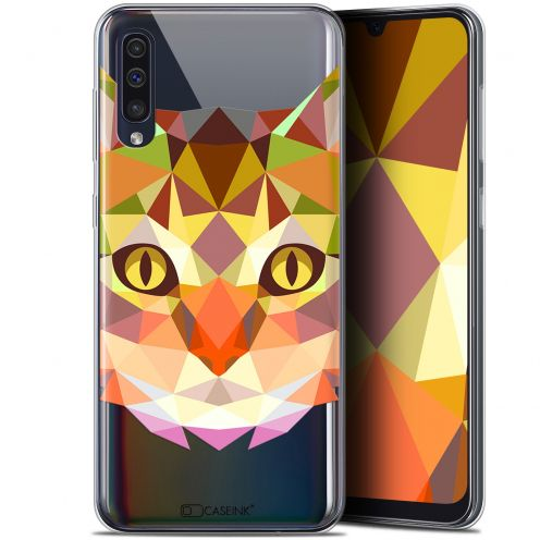 "Coque Gel Samsung Galaxy A50 (6.4"") Extra Fine Polygon Animals - Chat"