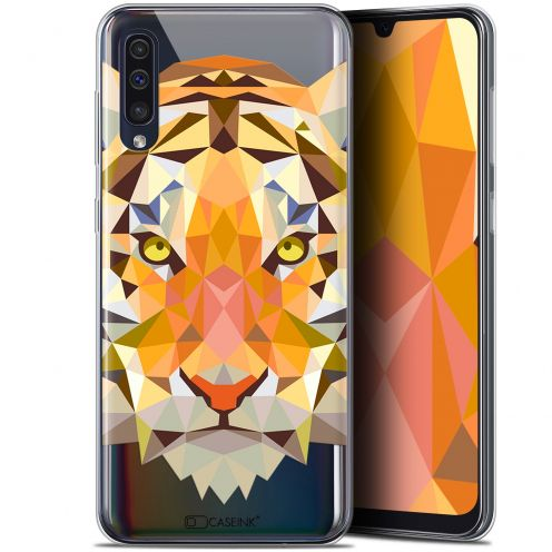 "Coque Gel Samsung Galaxy A50 (6.4"") Extra Fine Polygon Animals - Tigre"