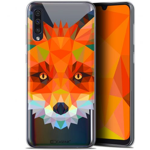 "Coque Gel Samsung Galaxy A50 (6.4"") Extra Fine Polygon Animals - Renard"
