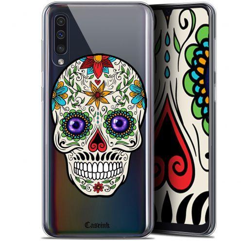 """Coque Gel Samsung Galaxy A50 (6.4"""") Extra Fine Skull - Maria's Flower"""