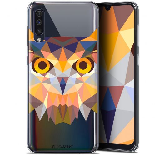 "Coque Gel Samsung Galaxy A50 (6.4"") Extra Fine Polygon Animals - Hibou"
