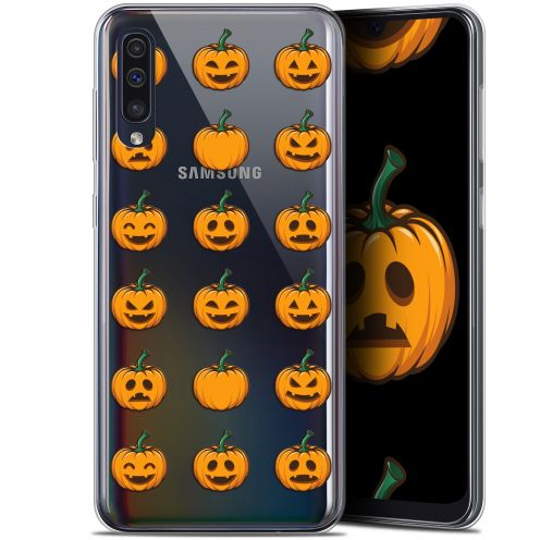 "Coque Gel Samsung Galaxy A50 (6.4"") Extra Fine Halloween - Smiley Citrouille"