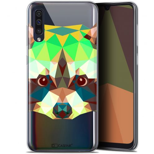 "Coque Gel Samsung Galaxy A50 (6.4"") Extra Fine Polygon Animals - Raton Laveur"