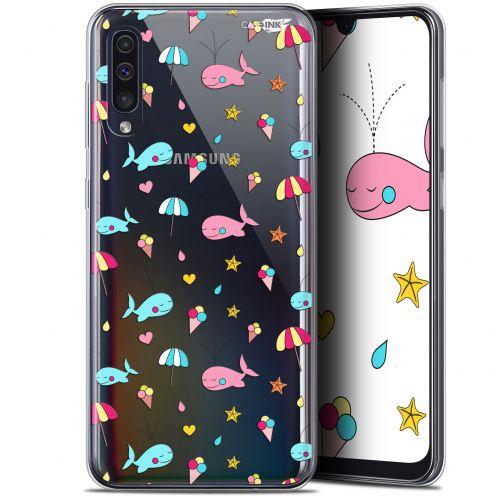 """Coque Gel Samsung Galaxy A50 (6.4"""") Extra Fine Motif - Baleine à la Plage"""