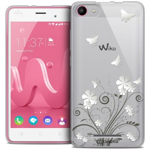 Coque Crystal Gel Wiko Jerry Extra Fine Summer - Papillons