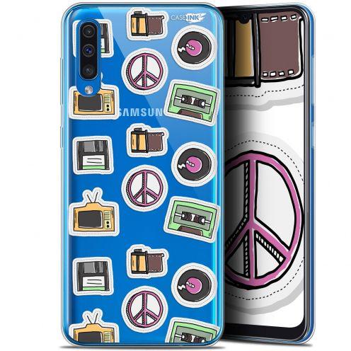 """Coque Gel Samsung Galaxy A50 (6.4"""") Extra Fine Motif - Vintage Stickers"""