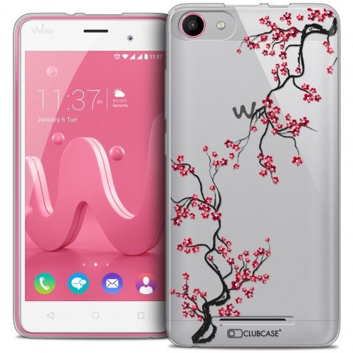 Coque Crystal Gel Wiko Jerry Extra Fine Summer - Sakura