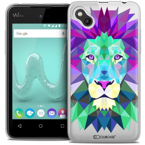 Coque Crystal Gel Wiko Sunny Extra Fine Polygon Animals - Lion