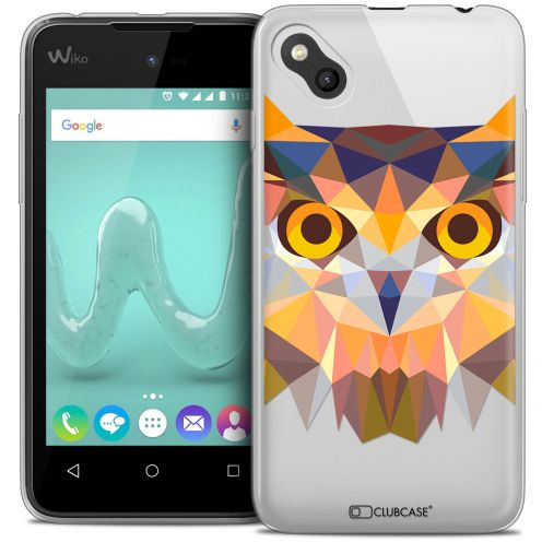 Coque Crystal Gel Wiko Sunny Extra Fine Polygon Animals - Hibou