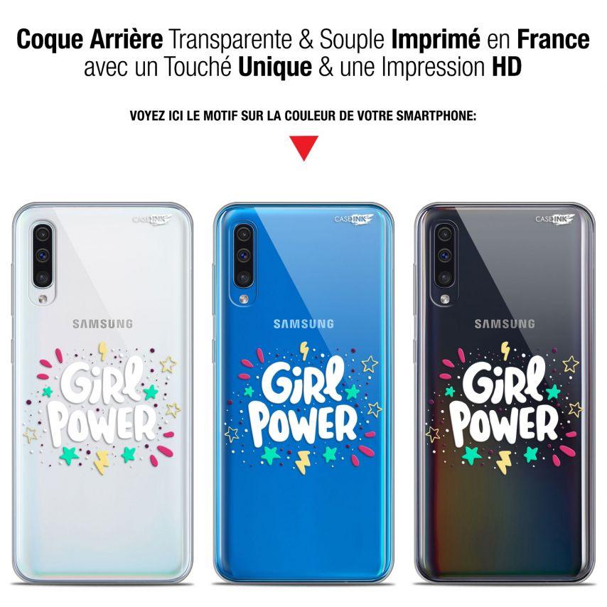 """Coque Gel Samsung Galaxy A50 (6.4"""") Extra Fine Motif - Girl Power"""