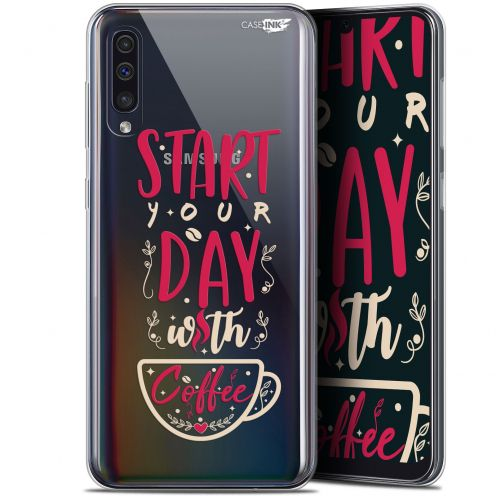 "Coque Gel Samsung Galaxy A50 (6.4"") Extra Fine Motif -  Start With Coffee"