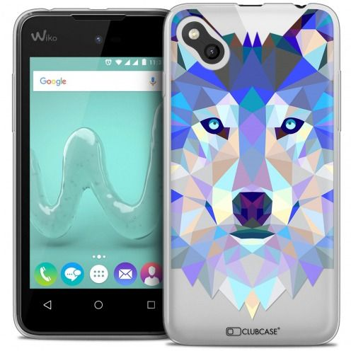 Coque Crystal Gel Wiko Sunny Extra Fine Polygon Animals - Loup