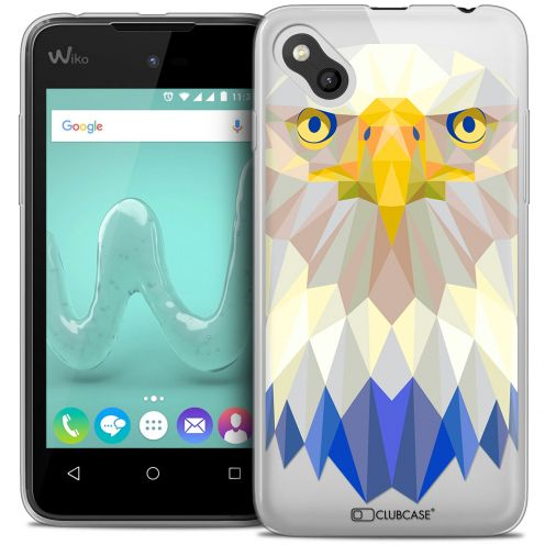 Coque Crystal Gel Wiko Sunny Extra Fine Polygon Animals - Aigle