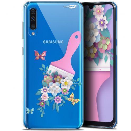 "Coque Gel Samsung Galaxy A50 (6.4"") Extra Fine Motif - Pinceau à Fleurs"