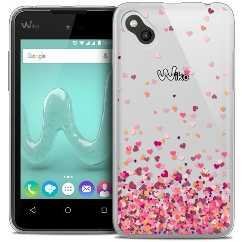 Coque Crystal Gel Wiko Sunny Extra Fine Sweetie - Heart Flakes
