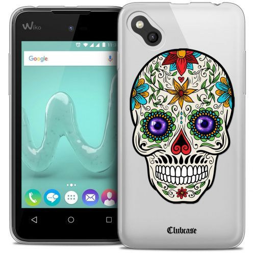 Coque Crystal Gel Wiko Sunny Extra Fine Skull - Maria's Flower