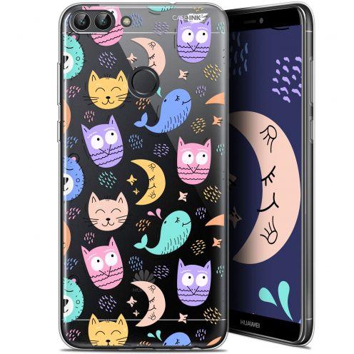 """Coque Gel Huawei P Smart (5.7"""") Extra Fine Motif - Chat Hibou"""