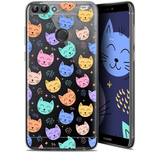 "Coque Gel Huawei P Smart (5.7"") Extra Fine Motif -  Chat Dormant"