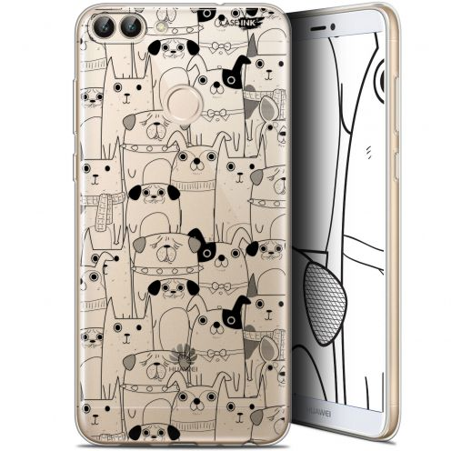 "Coque Gel Huawei P Smart (5.7"") Extra Fine Motif - Chien Noir"