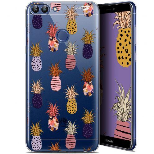 """Coque Gel Huawei P Smart (5.7"""") Extra Fine Motif - Ananas Gold"""
