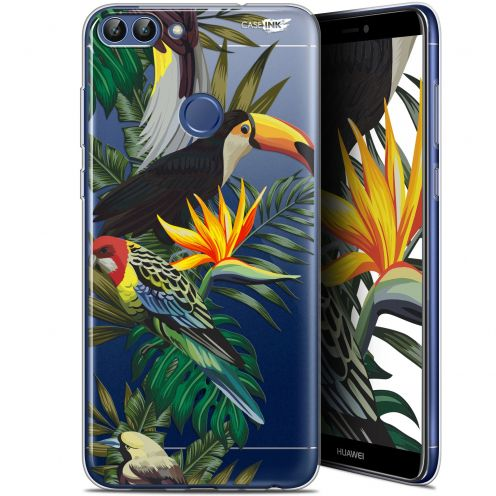 "Coque Gel Huawei P Smart (5.7"") Extra Fine Motif -  Toucan Tropical"