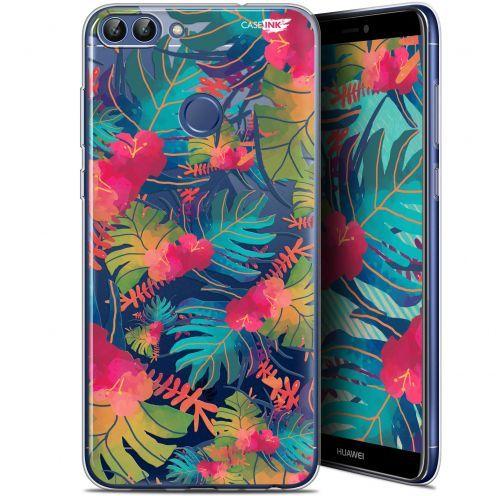 """Coque Gel Huawei P Smart (5.7"""") Extra Fine Motif - Couleurs des Tropiques"""
