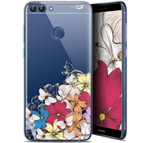 "Coque Gel Huawei P Smart (5.7"") Extra Fine Motif - Nuage Floral"