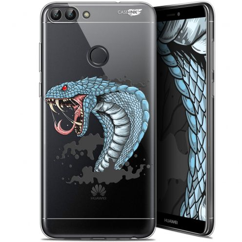"Coque Gel Huawei P Smart (5.7"") Extra Fine Motif -  Cobra Draw"