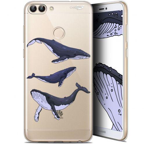 "Coque Gel Huawei P Smart (5.7"") Extra Fine Motif - Les 3 Baleines"