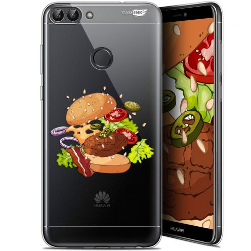 "Coque Gel Huawei P Smart (5.7"") Extra Fine Motif -  Splash Burger"
