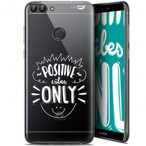 "Coque Gel Huawei P Smart (5.7"") Extra Fine Motif -  Positive Vibes Only"