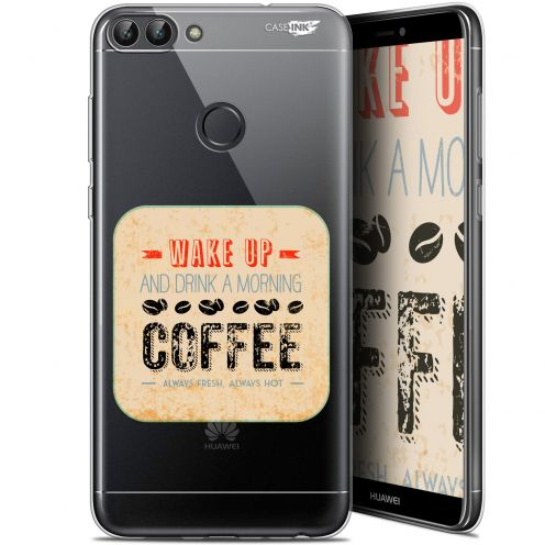 "Coque Gel Huawei P Smart (5.7"") Extra Fine Motif -  Wake Up With Coffee"
