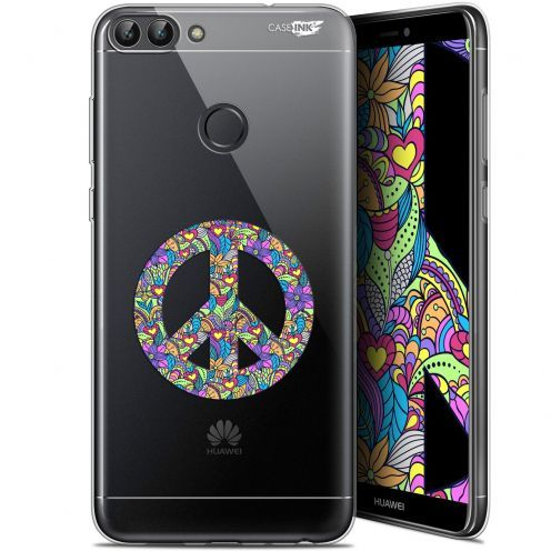 "Coque Gel Huawei P Smart (5.7"") Extra Fine Motif -  Peace And Love"