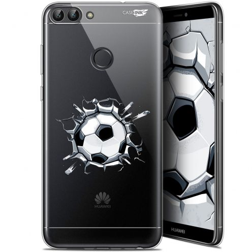 "Coque Gel Huawei P Smart (5.7"") Extra Fine Motif -  Le Balon de Foot"