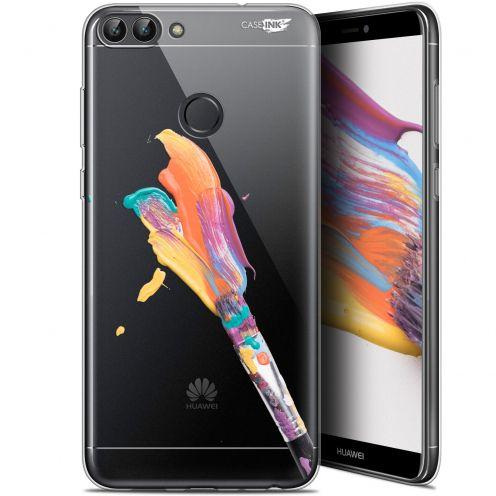 "Coque Gel Huawei P Smart (5.7"") Extra Fine Motif - Pinceau de Peinture"