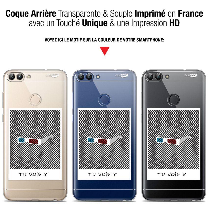 """Coque Gel Huawei P Smart (5.7"""") Extra Fine Motif - Tu Vois ce que Je Vois ?"""
