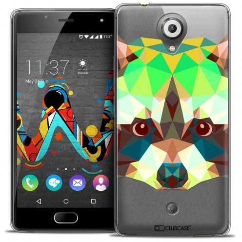 Coque Crystal Gel Wiko U Feel Extra Fine Polygon Animals - Raton Laveur
