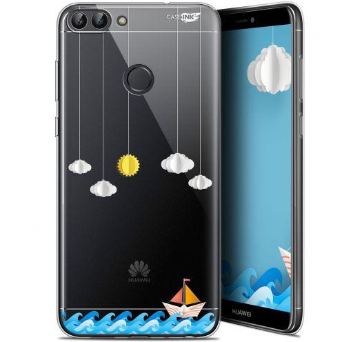 "Coque Gel Huawei P Smart (5.7"") Extra Fine Motif - Petit Bateau en Mer"