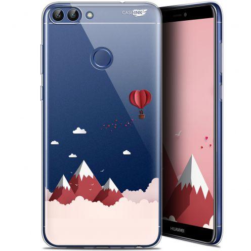 """Coque Gel Huawei P Smart (5.7"""") Extra Fine Motif - Montagne En Montgolfière"""