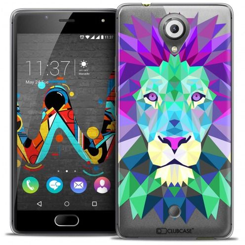 Coque Crystal Gel Wiko U Feel Extra Fine Polygon Animals - Lion